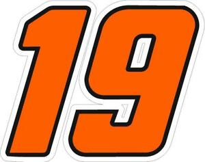 NEW FOR 2019 - #19 Martin Truex Racing Sticker Decal - SM thru XL -Various color