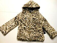 Girls Jackets Faux Fur Jackets Leopard print Tan Coat Soft 4/5 Xs
