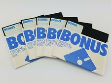 """Bonus 5.25"""" 5-1/4"""" Floppy Disk Floppies Lot of 5 w/ Sleeves NOS New Untested"""