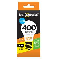 LED 5W 40W Equivalent Traditional Ceiling Light Bulb Lamp Warm White E27 Screw