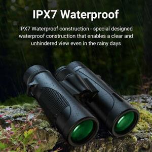 10x42 Binoculars Waterproof HD Professional Night Vision Outdoor Climbing GO