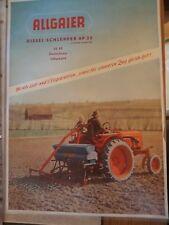 Prospekt Sales Brochure Allgaier Dieselschlepper AP 22 Technische Daten Traktor