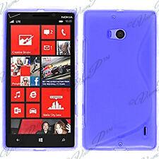 Housses Coque Etui Bleu TPU S Silicone GEL Motif S S-line Vague Nokia Lumia 930