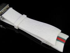 Men's Techno Art Joe Rodeo Matte White Rubber Watch Band Straps Steel Buckle