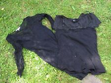New Look Black Lace Dress size 8 +H&M Black lace top size Small