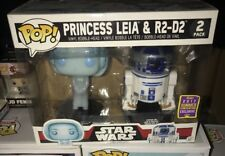 Funko POP! Figure MIB Star Wars SDCC Summer 2017 PRINCESS LEIA & R2-D2 2 Pack