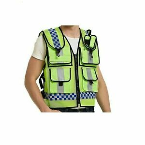 Motorcycle High Visibility Vest Neon Scooter Motorbike Vest work wear safety