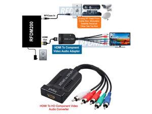 Analog RF Coax To 1080p Component Video YPbPr HDMI Demodulator For NTSC