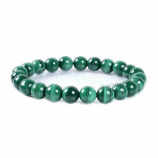 Lots Natural Gemstone Malachite Round Beads Stretch Bangle Bracelet Craft 8MM