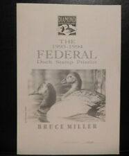 The 1993-1994 Federal Duck Stamp Printlet & Scott# Rw60, Signed By Bruce Miller