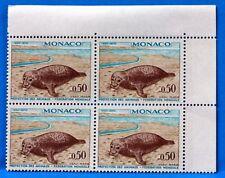 BLOC DE 4 TIMBRES   MONACO  N° 811 VEAU MARIN   NEUF **  MNH BD63
