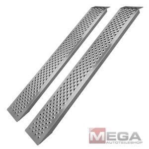 2er Satz Auffahrrampe Auffahrschiene Alu Aluminium Rampe Laderampe 400 KG 149 cm