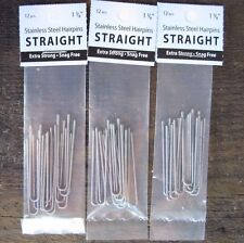 """Amish Made Heavy Duty  1 5/8  """"Stainless Steel Hairpins  3 PACKS"""