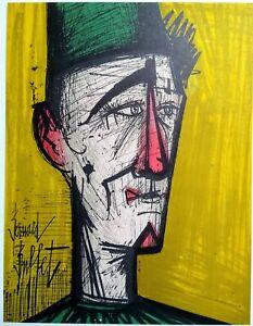 """Bernard Buffet """"Jojo the Clown""""  -original lithograph"""