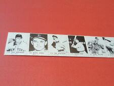 ORIGINAL 1950  MINI BASEBALL  CARDS  UNCUT STRIP  OF 13--WILLIAMS/MUSIAL/HORNSBY
