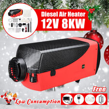 8KW 12V Diesel Air Heater LCD Thermostat Quiet 8000W For Trucks Boat Car Trailer