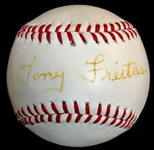 RARE Tony Freitas died 1994 PSA/DNA Signed Authentic Autographed Baseball Reds