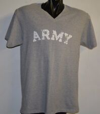 ARMY VINTAGE DESTROYED LETTERS HEATHER GRAY T-SHIRT- EXTRA LARGE V- NECK