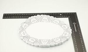 """60 Pack of Oval Paper Doilies White Paper Coasters Party Drink Mats 26.5cm/10.5"""""""