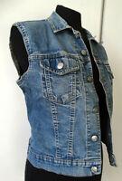 "Gilet di jeans donna denim jacket XS S 36 38 UK 6  ""BIG BRAND"" chaleco gillet"