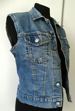 "Gilet di jeans donna denim jacket XS S 36 38 UK 6  ""BIG BRAND"" chaleco gillet"