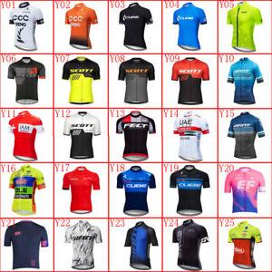 2021 Men cycling jersey bike Shirt short sleeve Road bicycle tops Sports uniform