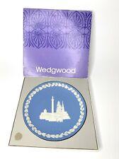 Vintage Wedgwood Jasperware Christmas Plate 1970 Trafalgar Square incl brochure