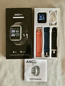 ANCwear Fitness Tracker Watch, Heart Rate Sleep & Blood Pressure Monitor + More