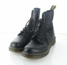 24-33 $130 Women's Sz 7 Dr. Martens Pascal Leather Combat Boots In Black