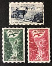 1950-1959 Andorra French Administration Airmail Scott# C1-C3 - Mint    CV$140++