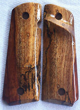 1911 FULL SIZE TARGET GRIPS COLT, KIMBER S&W & others SPALTED BRAZILIAN X-40