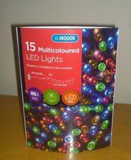 15 MULTI colore Luci LED a batteria