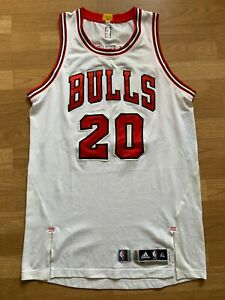 Tony Snell 14-15 game worn Chicago Bulls white jersey with autograph, XL+2