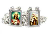 Stainless Steel Medium Rectangular Scapular with Color Images. Made in Brazil
