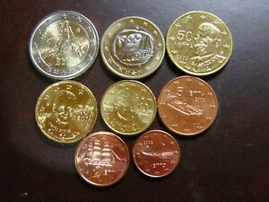 GRECIA 2002 SERIE 8 MONEDAS EURO