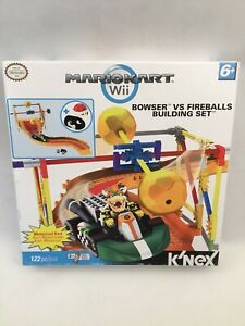 K'NEX Mario Kart Wii Bowser vs Fireballs Set #38439, 122 Pieces, NEW!!