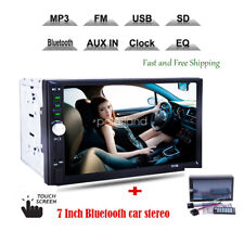 "7 ""HD doble 2DIN coche MP5 Player Bluetooth pantalla táctil estéreo radio"