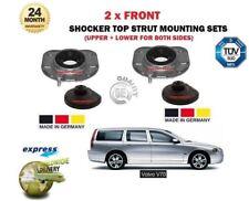 FOR VOLVO V70 2000-2007 2X FRONT UPPER + LOWER SHOCKER TOP STRUT MOUNTING KIT
