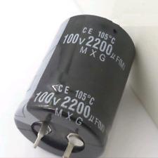 2pcs 2200uf 100v 2200mfd 100volt 105c Aluminum Electrolytic Capacitor 2235mm