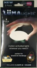 LUMA LIGHT MOTION ACTIVATED LED Night KITCHEN BATHROOM AS SEEN ON TV 2 Pack