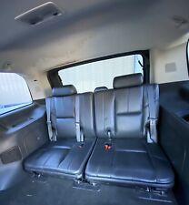 2007-2014 Escalade Yukon Tahoe Suburban Ebony  Black Leather 3rd Row Seats