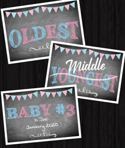 Personalised Pregnancy Announcement Prints 3rd Baby Third Pregnancy A4 PHOTOPROP