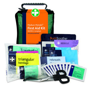 Bs8599-2 Workplace Car/Motor First Aid Kit in Scandi Bag, Small, Medium & Large
