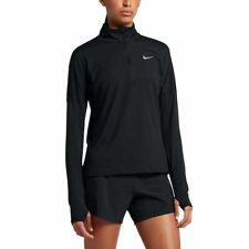 Nike Women's Dri-Fit Element Half Zip Long Sleeve Running Top AJ4660 010