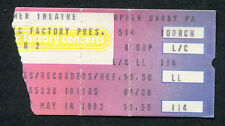 Original 1983 U2 Concert Ticket Stub Tower Theater Upper Darby Pa The War Tour