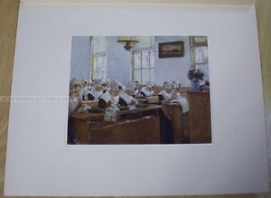 MAX LIEBERMANN - dutch sewing FACSIMILE LIMITED EDTION 1/200 PRINT from 1917