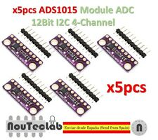 5pcs I2C ADS1015 12 Bit ADC 4 channel Module Gain Amplifier 2.0V to 5.5V