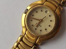 a fine vintage ladies 18k gold plated olma dress watch