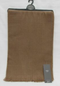 MEN'S MARKS AND SPENCER CAMEL SOFT TOUCH SCARF ONE SIZE