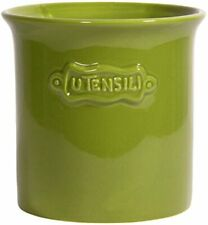 Palais Essentials Ceramic Utensil Crock Utensil Holder - Lime Green